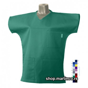 Woman scrub top V-neck