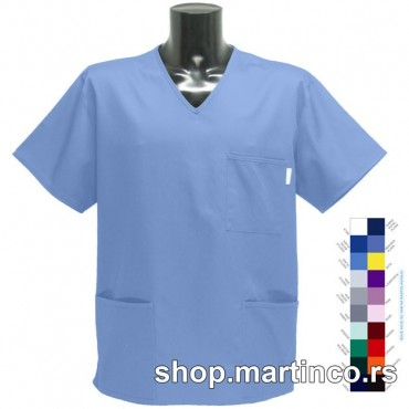 Man scrub top V-neck