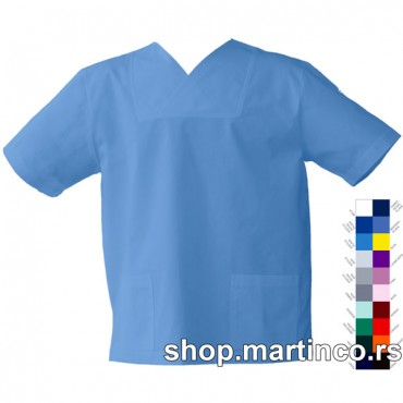 Man scrub top Swedish V neck